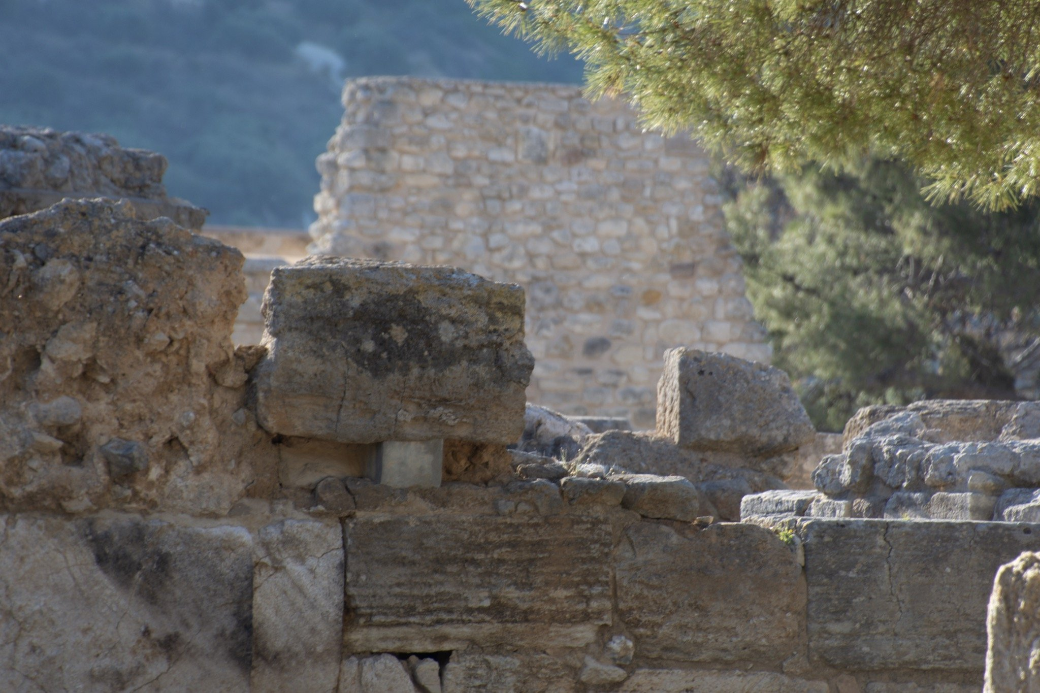Ruins from the Minoan Complex in Knossos